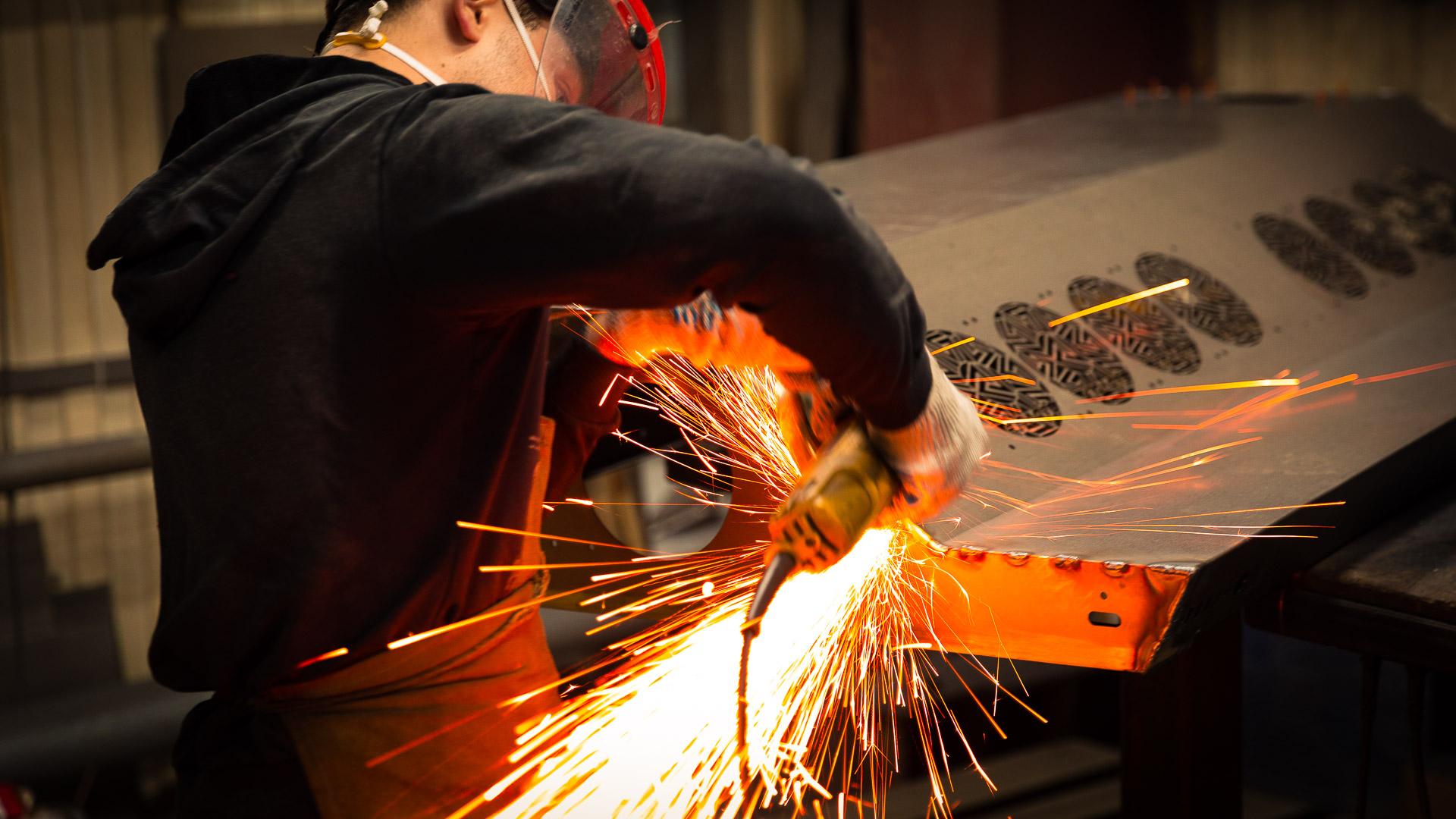 Perfolux metal fabrication, Metal Grinding Operations